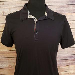 Burberry Brit Black Cotton Polo Shirt Medium Peru